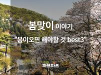 [봄맞이 이야기] 봄이 오면 해야 할 것 Best3